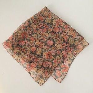 Sheer Floral Print Scarf